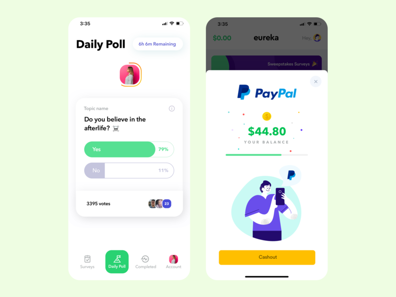 Sweepstakes Surveys sweepstakes survey card illustration cards minimal ios app clean flat ux ui