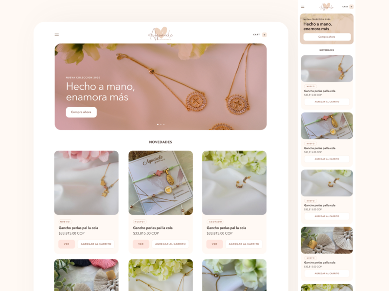 Store [Cart] store cards minimal clean design layout web flat ux ui