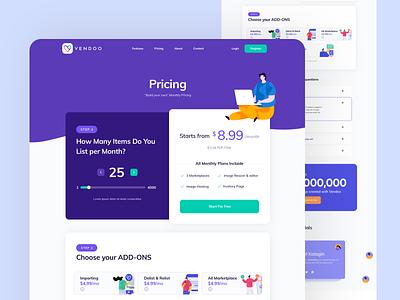 Pricing Plan pricing page pricing plan illustration website design layout web clean flat ux ui
