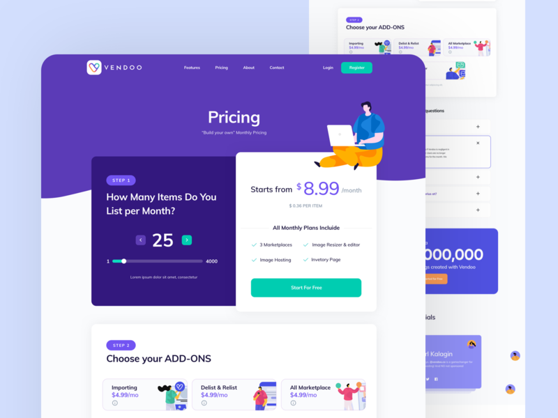 Pricing Plan pricing page pricing plan illustration website design layout web clean flat ux ui