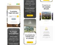 Mobile-first mobile first responsive web design responsive website landing cards minimal web clean flat ux ui
