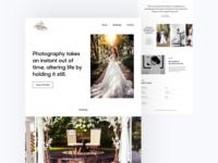 Layout photographer wedding website landing design minimal layout web clean flat ux ui