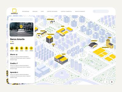 Map map city illustration website design layout web app clean flat ux ui