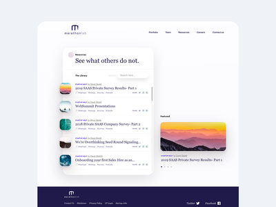 Inner page resource management blog card website cards minimal layout web clean flat ux ui