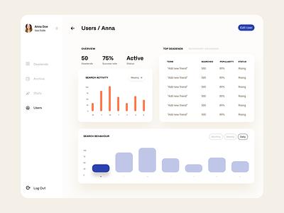 Dashboard deadlines stats users deadline dashboard cards minimal layout web app clean flat ux ui