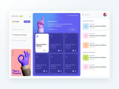 Task Manager | Dashboard task management dashboard management design cards minimal layout web app clean flat ux ui