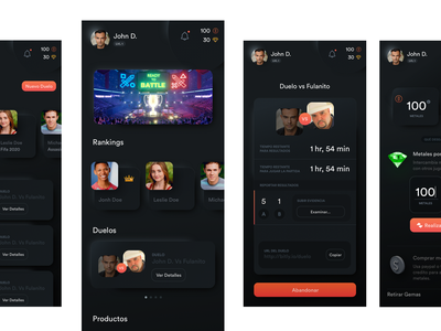 Mobile app uxui user interface design game ui gamification cards ios app ux ui