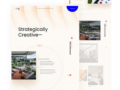 Agency agency landing page creative design figma creative agency landing design minimal layout web clean flat ux ui