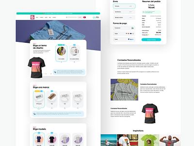 Item item page detail item website design cards minimal layout web clean flat ux ui