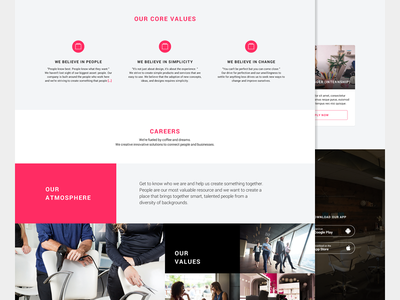 About Page careers landing flat clean about layout web ui ux