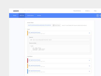 REST API rest landing website clean layout design web energy api ui ux