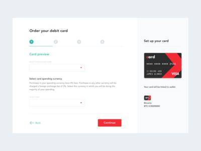 Order your Debit Card