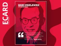 """Hari Pahlawan"" Ecard Design Concept 01"