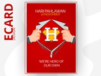 """Hari Pahlawan"" Ecard Design Concept 02"
