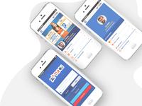 Telco company UI/UX Design app