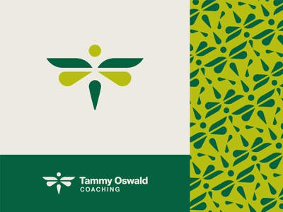 Life Coach Branding graphicdesign abstract abstract logo dragonfly logo design dribbbble logo designer life coach emblem symbol re-brand branding patterns pattern geometric simple logo