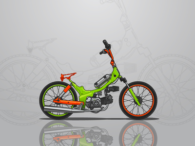 Green Custom Bike Illustration
