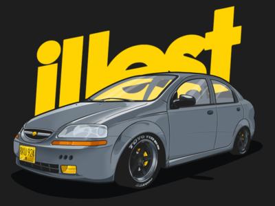Chevrolet Aveo Illustration