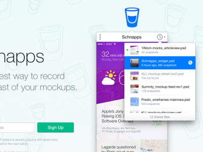 Schnapps for Mac popup popover widget ios7ified sketch utility beta teaser macosx menubar dragndrop time-lapse