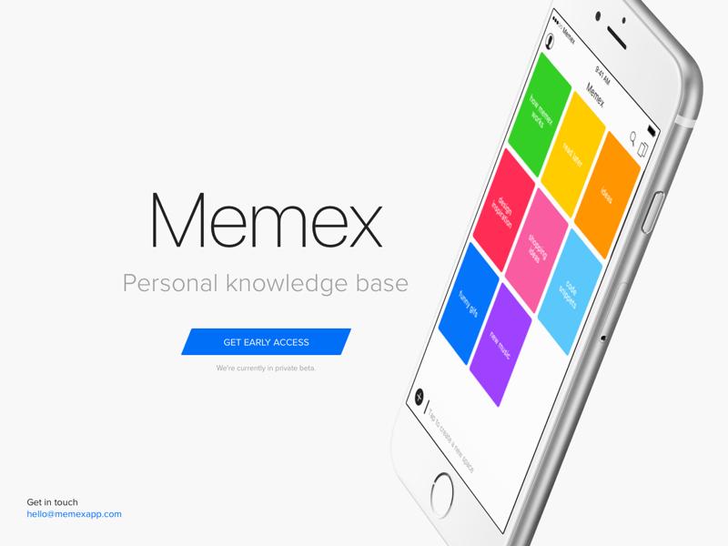 Memex teaser web clean san francisco grid triangle stripes colorful web teaser app ios memex