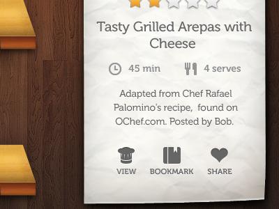 Tip's meta  icons cookmate ipad paper lids wood ui