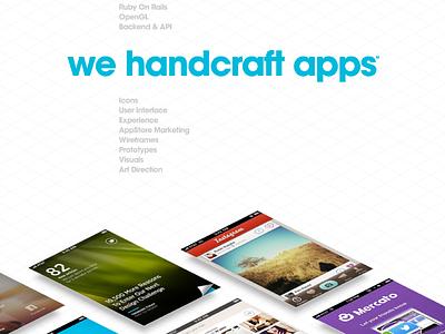 New Tapmates.com grid isometric web portfolio apps showcase clean honest big font avant garde minimal