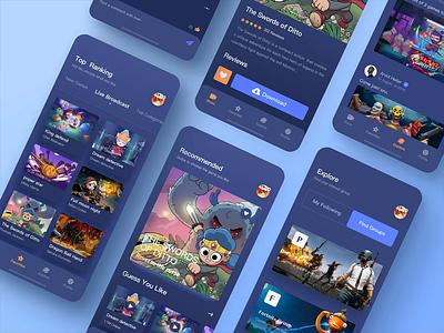 Online Gaming Entertainment 04 download videogame ux uidesign ui show online make friends interest hobby groups gameshow game app design app design app