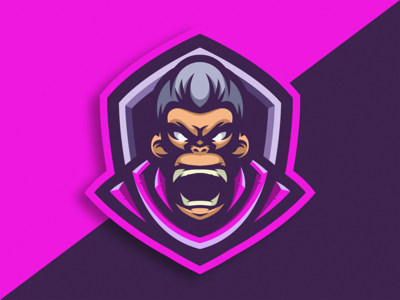 Ape logo icon logoesport ape gaminglogo logogame logo designer logodesign gaming cartoon icon logo design vector illustration