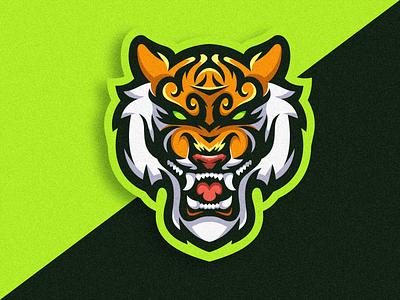 Tiger Logo Icon logoidea logogame logos logoicon logoesport gaming logogaming logodesign icon logo design vector illustration