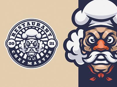 Chef Master logoicon illustration vector design cartoon logo icon cooking chef chef logo