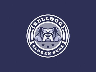 Bulldog Logo branding logoicon logodesign cartoon icon design vector illustration logo dog illustration dog bulldog