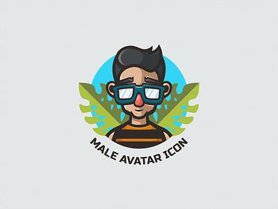 Male Avatar Icon brand business branding illustraion cartoon design mascot vector logodesign logoicon logomascot logo avatardesign avatar icons icon avatar male