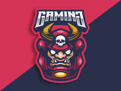 Daruma Samurai Logo Macot logogaming gaming game character squad team illustration vector logoicon logomascot logoesport icon mascot logo cartoon samurai daruma