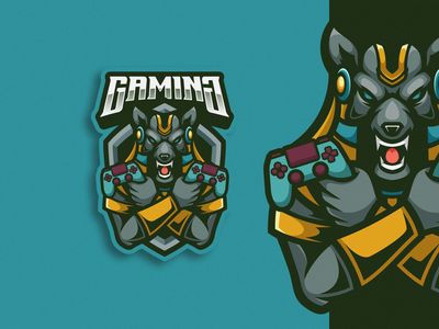 Anubis Logo Mascot cartoon character vector illustraion logodesign logoesport logogaming logomascot gamer squad team design esport gaming emblem mascot logo anubis