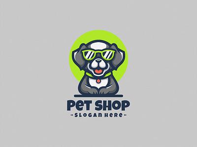 Pet Shop Logo Icon character cartoon logodesign illustration brand logodog logo mascot icon design vector branding cat dog petshop