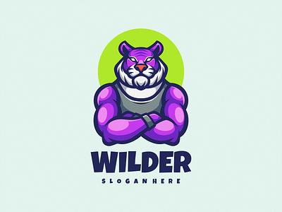 Tiger Gym Logo Icon cartoon character logodesign branding brand business vector illustration logosport emblem logomascot logoicon mascot icon logo sport gym tiger