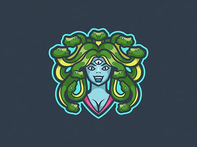 Medusa Logo Mascot logogaming logoesport logodesign logomascot logoicon game gamer gaming esport team squad illustration vector design icon mascot logo medusa