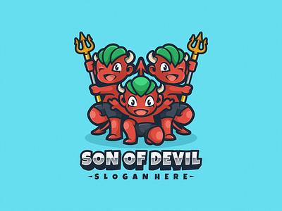 Devil Logo Mascot cartoon character logogaming logoesport logoicon logomascot illustration vector design squad team gaming esport icon mascot logo devil