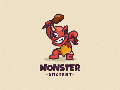 Monster Logo Icon character logomascot logoicon logodesign design illustration vector cartoon mascot icon logo monster