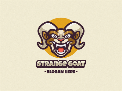 Goat Logo Mascot logoicon farm brand bussines logodesign logomascot graphic design illustration vector character cartoon design icon mascot logo goat