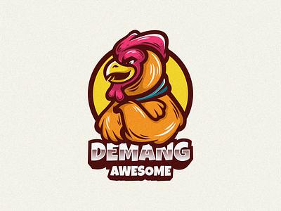 Rooster Logo Mascot emblem logoicon logomascot branding brand character cartoon illustration vector design logodesign icon mascot logo rooster