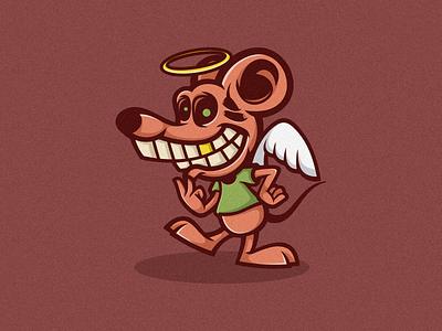 Rat lll Logo Mascot branding brand nftcharacter nftart nftcollector nft logomascot logoicon logodesign design vector illustration cartoon logo character icon rat
