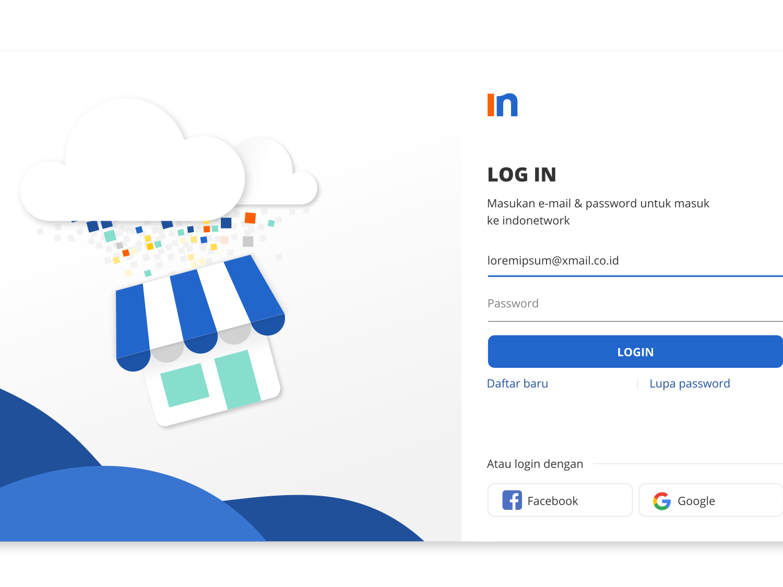 Redesign Login Page minimal illustrator illustration website app web ux typography ui vector design