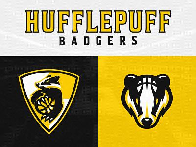 Hufflepuff Badgers | Hogwarts Basketball Alliance mascot sports mascot mascot logo illustrator vector alliance hogwarts shield logo basketball sports branding sports logo design hufflepuff badger logo