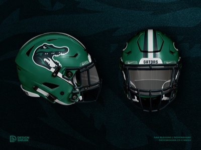 Gators Football Concept | Helmet + Unis mockups photoshop sports mascot mascot mascot logo football helmet football uniforms football logo football helmet design uniform design billboard design logo sports logo gator logo alligator gator