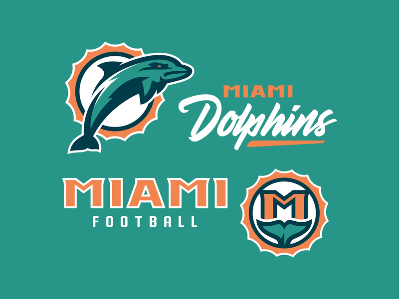Miami Dolphins Concept nfl concept typography illustration vector sports logo design dolphin mascot logo dolphin mascot badge design monogram badge football logo football branding football miami dolphins logo design branding sports branding mascot logo sports logo dolphin logo dolphins