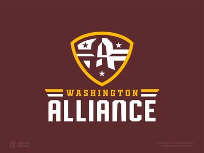 "Washington NFL Rebrand Concept   ""Washington Alliance"" mascot design football logo sports logo washington monument bold clean alliance custom type concept badge logo crest logo vector washington dc football branding logo football nfl nfl rebrand sports branding"