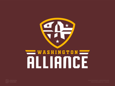 "Washington NFL Rebrand Concept | ""Washington Alliance"" mascot design football logo sports logo washington monument bold clean alliance custom type concept badge logo crest logo vector washington dc football branding logo football nfl nfl rebrand sports branding"