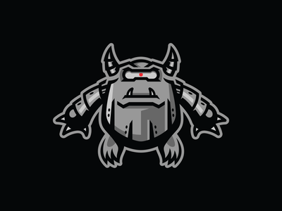 Monster/Robot Illustration design bold lines black grey cyborg apparel graphics bold clean design vector monster robot mascot design mascot logo mascot illustration illustration mascot logo