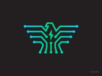 Crenet TechLabs | Logomark vector clean logo simple logo network technology bolt icon design tech company tech logo eagle icon eagle logo logodesigner logomark icon eagle